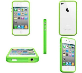 10805833-green-bumper-frame-case-shell-for-apple-iphone-4