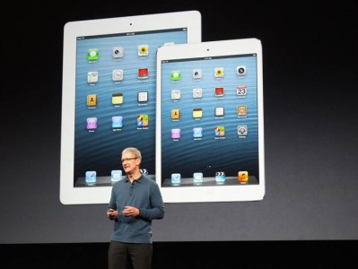 Tim Cook iPad 4 iPad mini conferinta