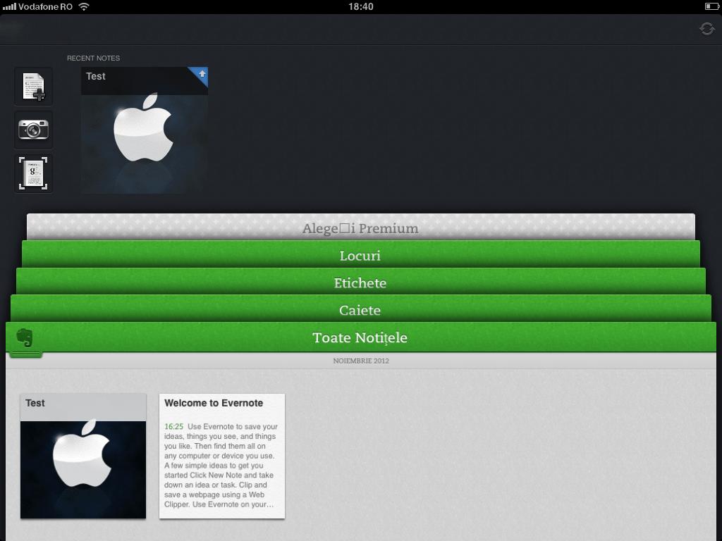 Evernote 5.1 – update este disponibil in App Store