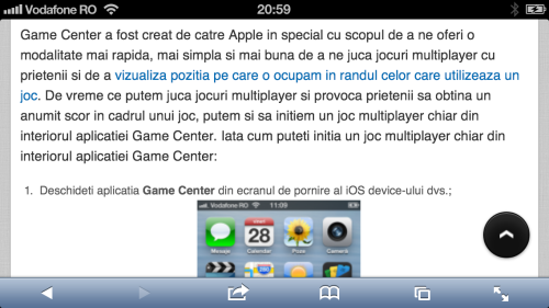 Pagina web vedere normal iPhone iTutorial