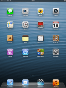 Home Screen iPad