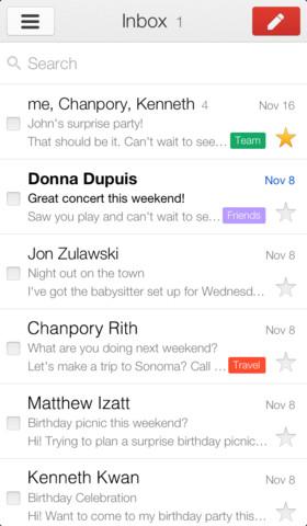 Gmail 2 – update disponibil