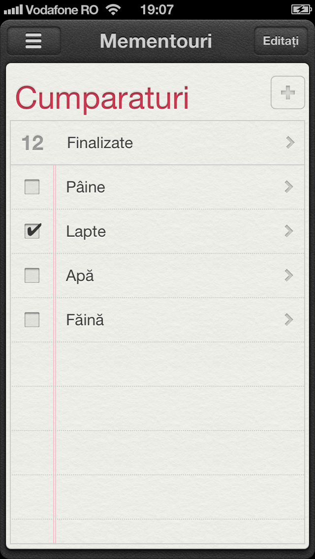 Cum sa marcati ca si finalizate sarcinile din aplicatia Mementouri pe iPhone si iPad – Tutorial