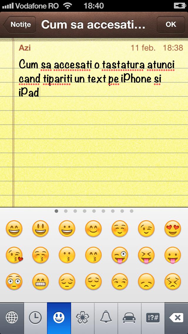 Cum sa adaugati caractere Emoji, cum le accesati si cum sa faceti prescurtari pentru expresii pe iPhone si iPad – Tutorial