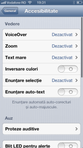 Accesibilitate iPhone