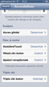 Accesibilitate bottom iPhone