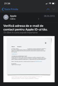 adaugati email imessage iphone