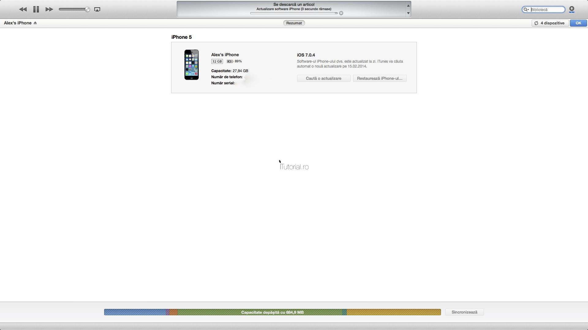 iTunes actualizare software