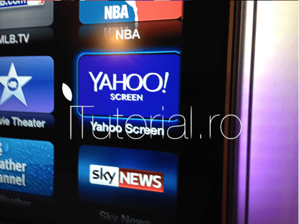 Apple TV Yahoo Screen