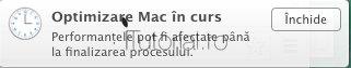 Optimizare Mac notificare