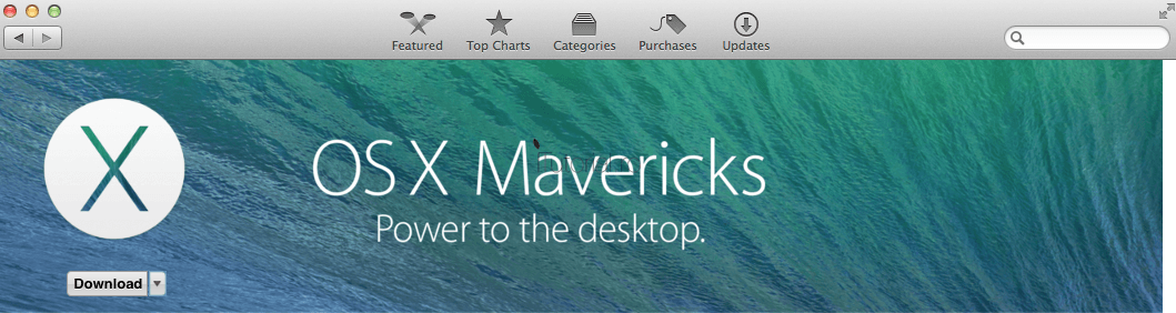 Mavericks App Store