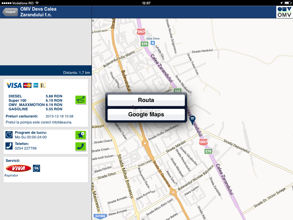 OMV Station Filling Finder 1.1
