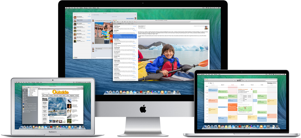 Macbook pro macbook air iMac OS X Mavericks
