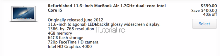 MacBook Air 2012 refurbished