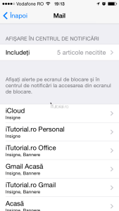 Mail centru de notificari
