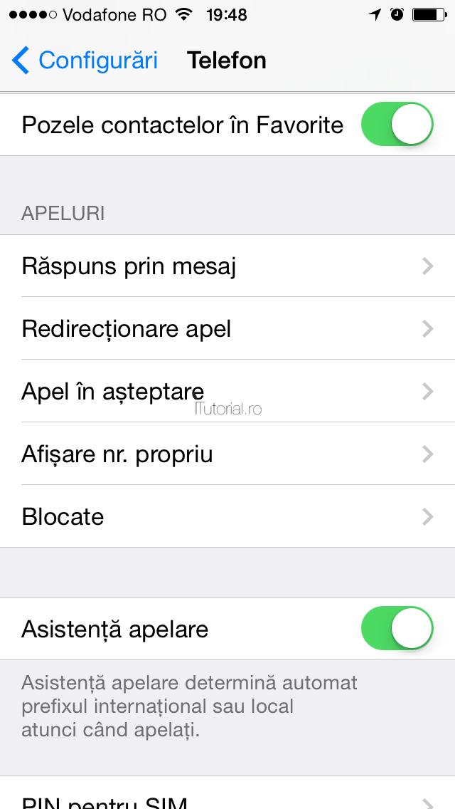 Cum sa activezi/dezactivezi apelurile in asteptare pe iPhone