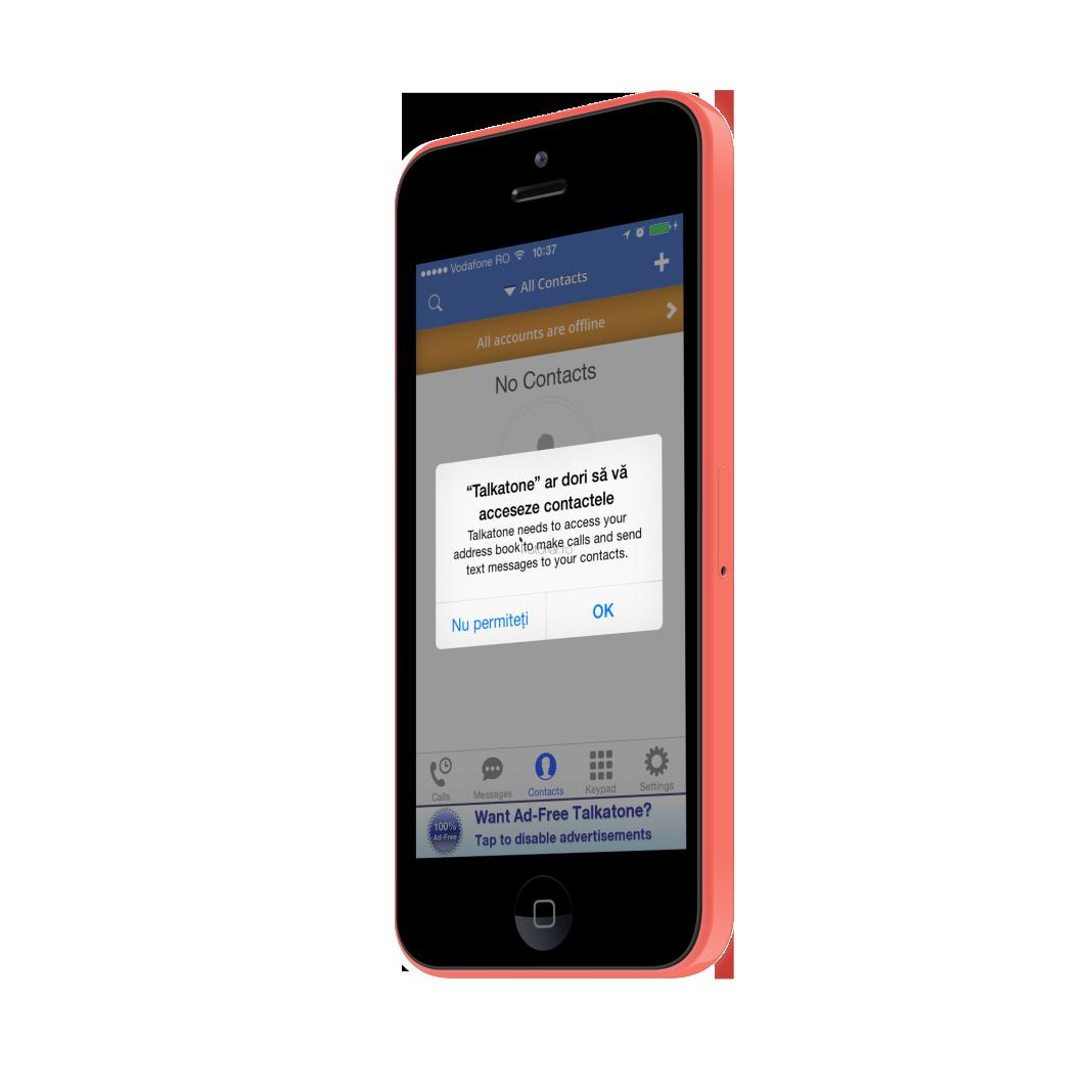 Permiteti acces aplicatie la contacte pe iphone