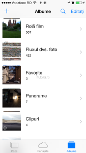 Albumul rola film reapare in iOS 8.1