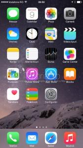 ecran principal home screen iphone ios 8 #itutorial.ro