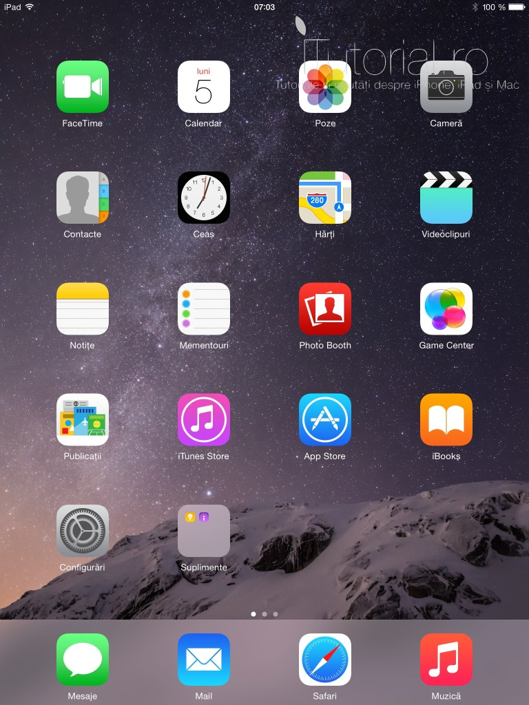 ipad home screen #itutorial.ro