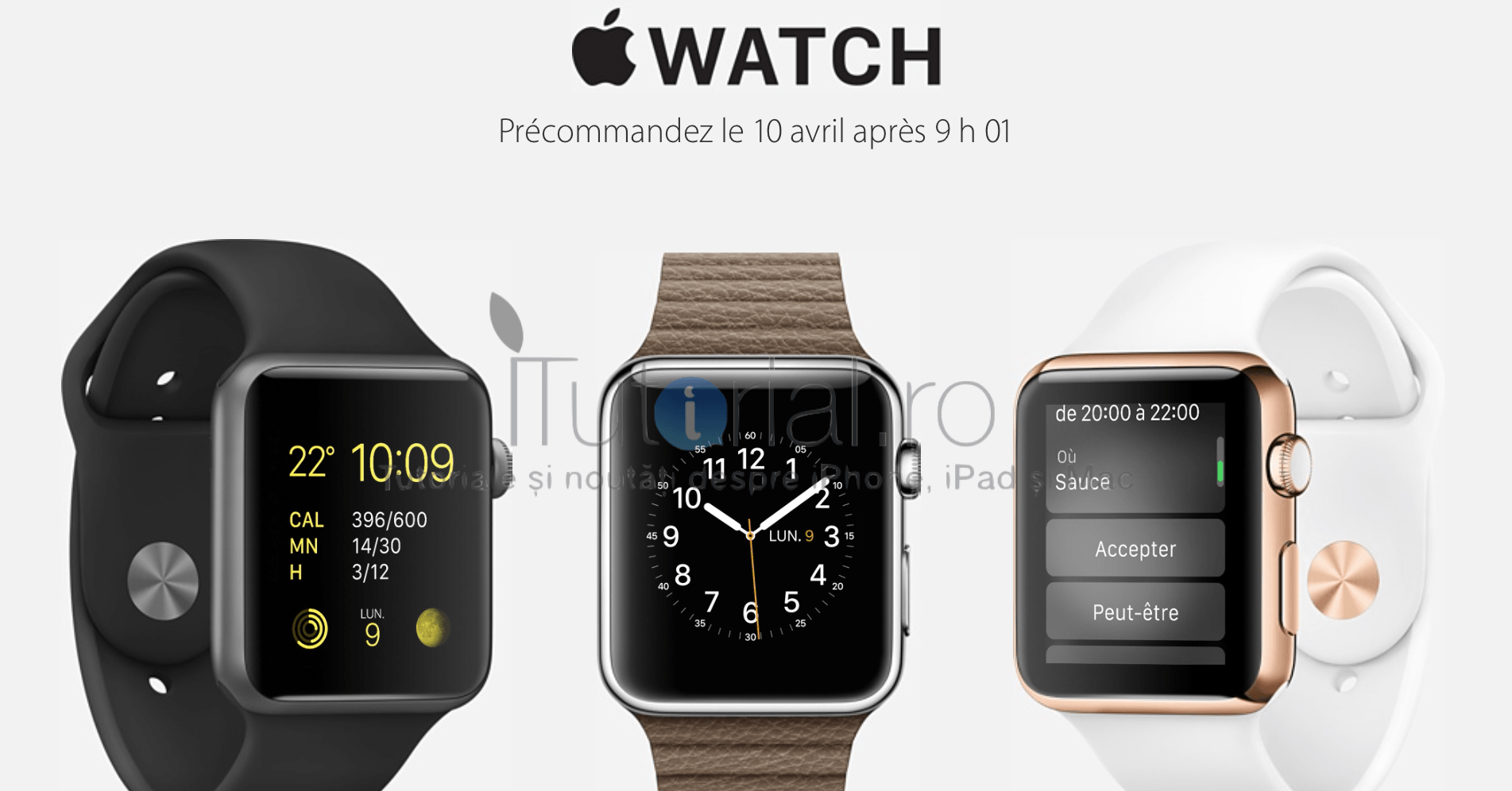 apple watch precomenzi