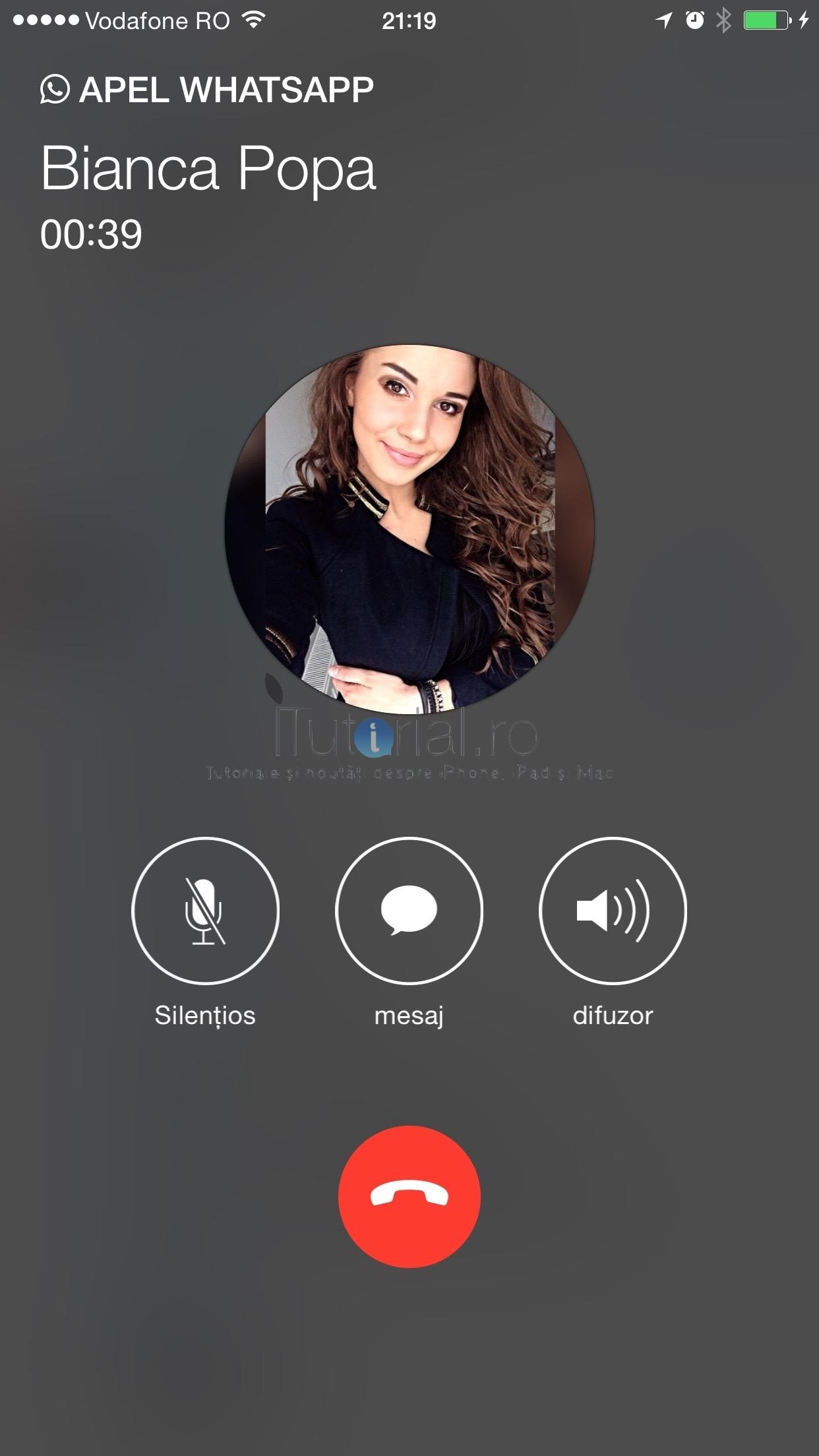 Acțiuni în timpul unui apel pe iPhone