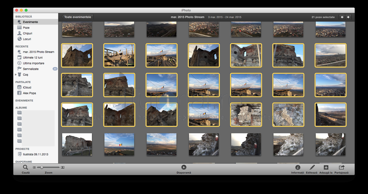 iPhoto selectare poze