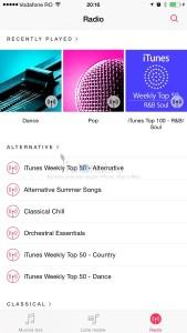 itunes radio muzica