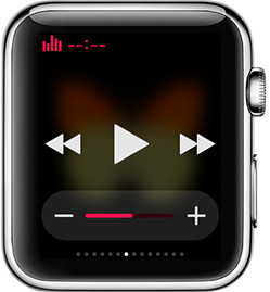 muzica glance apple watch