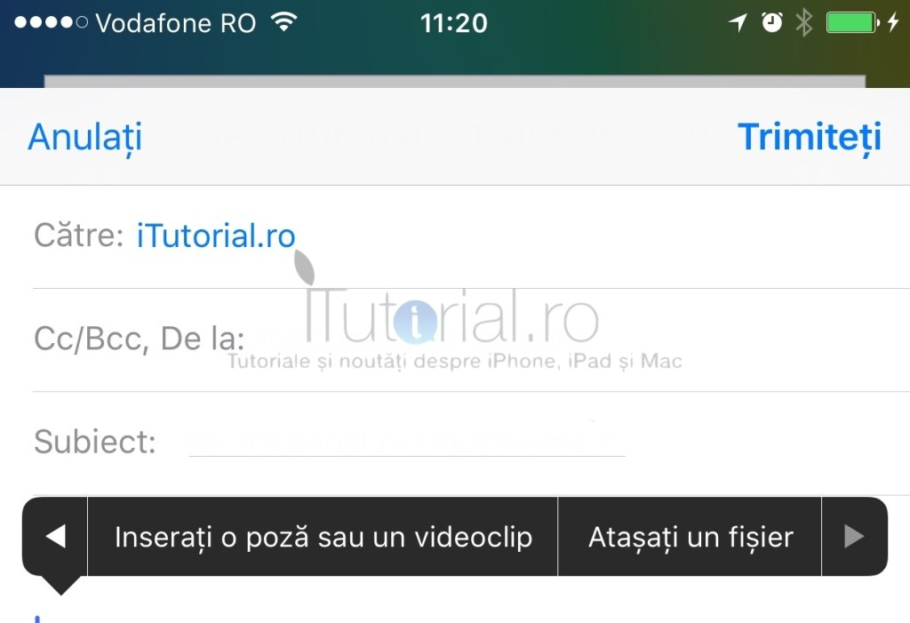 atasati fisier ios9 mail