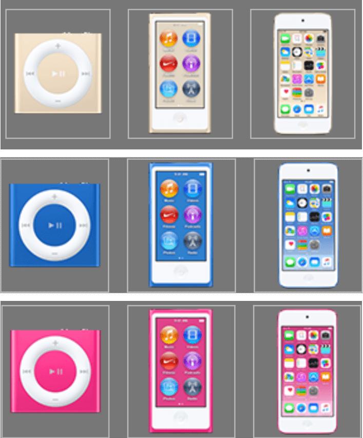 ipod nano, touch, shuffle 2015