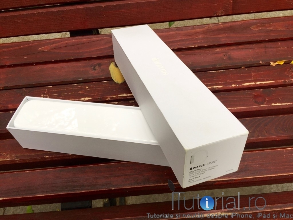 Apple Watch Sport unboxing #itutorialro 7