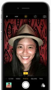 iphone 6s selfie retina blit