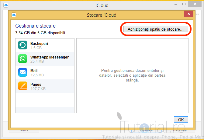 icloud achizitionare stocare
