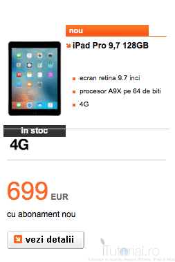 ipad pro 128 GB orange