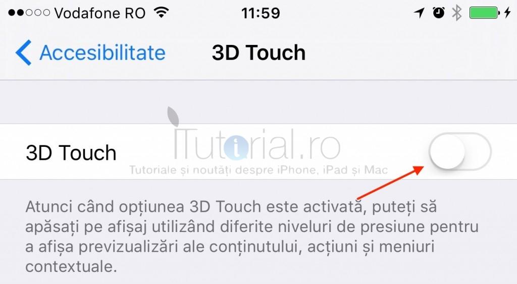 dezactivare 3d touch