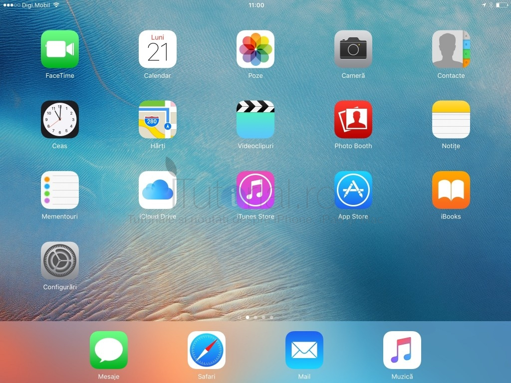 iPad iOS 9 ecran principal home