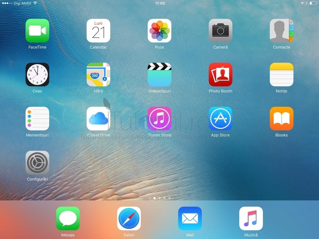 iPad iOS 9 ecran principal home