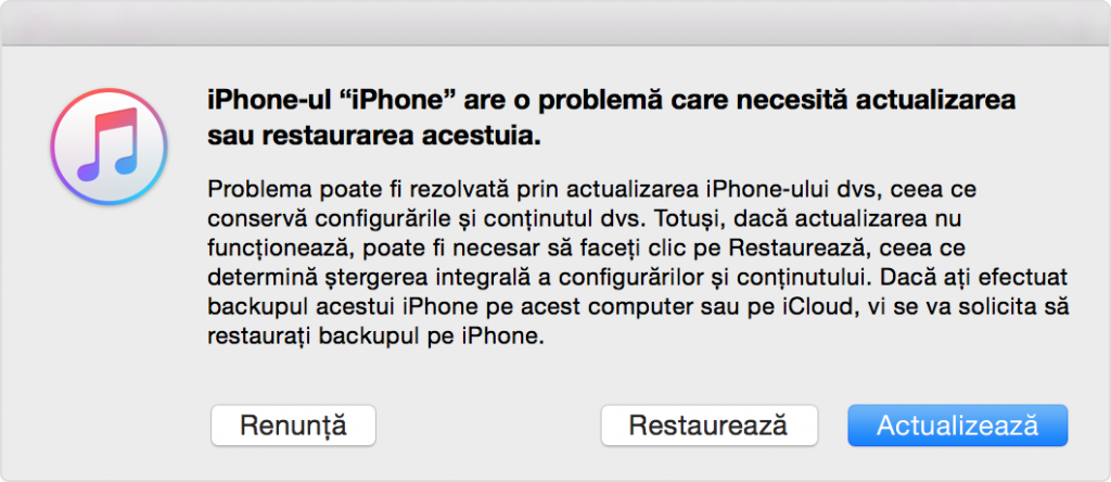 iphone recuperare itunes