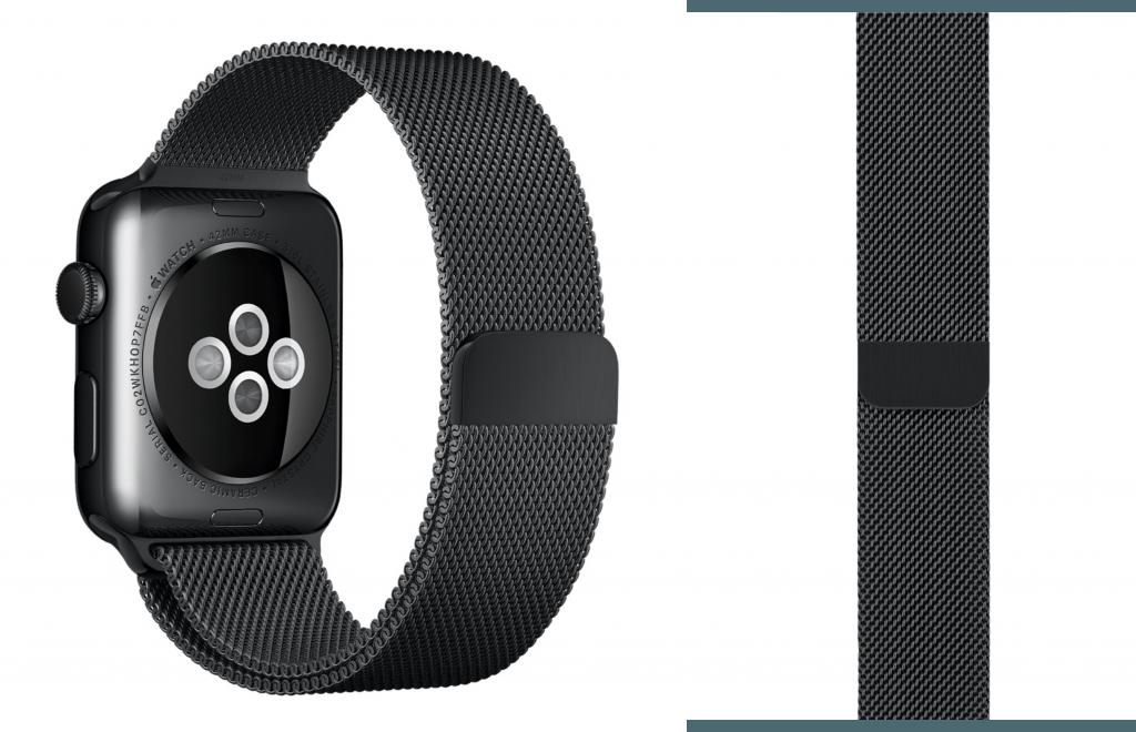 milaneză neagră Apple Watch