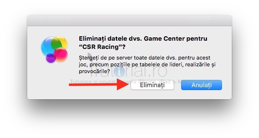 Eliminare Game Center