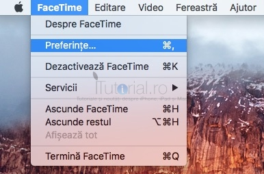 FaceTime preferinte OSx
