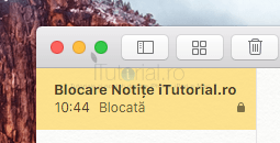 Notite blocate mac