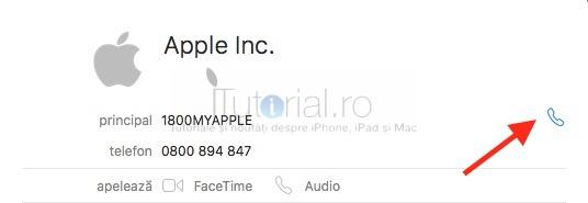 apelare contacte Mac