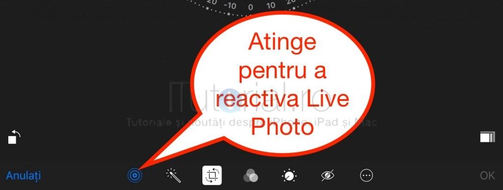 reactivare Live Photo