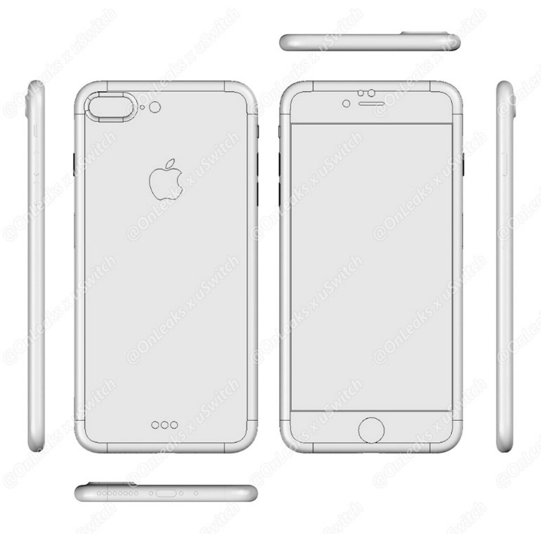 Planul iPhone 7 Plus (modelul cu ecran de 5,5 inchi).