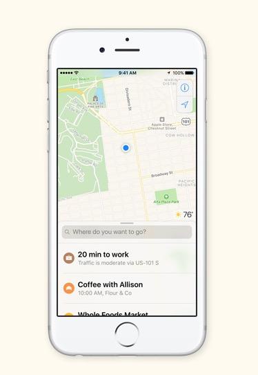 Harti iOS 10 sugestii
