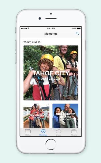 Poze iOS 10 Amintiri