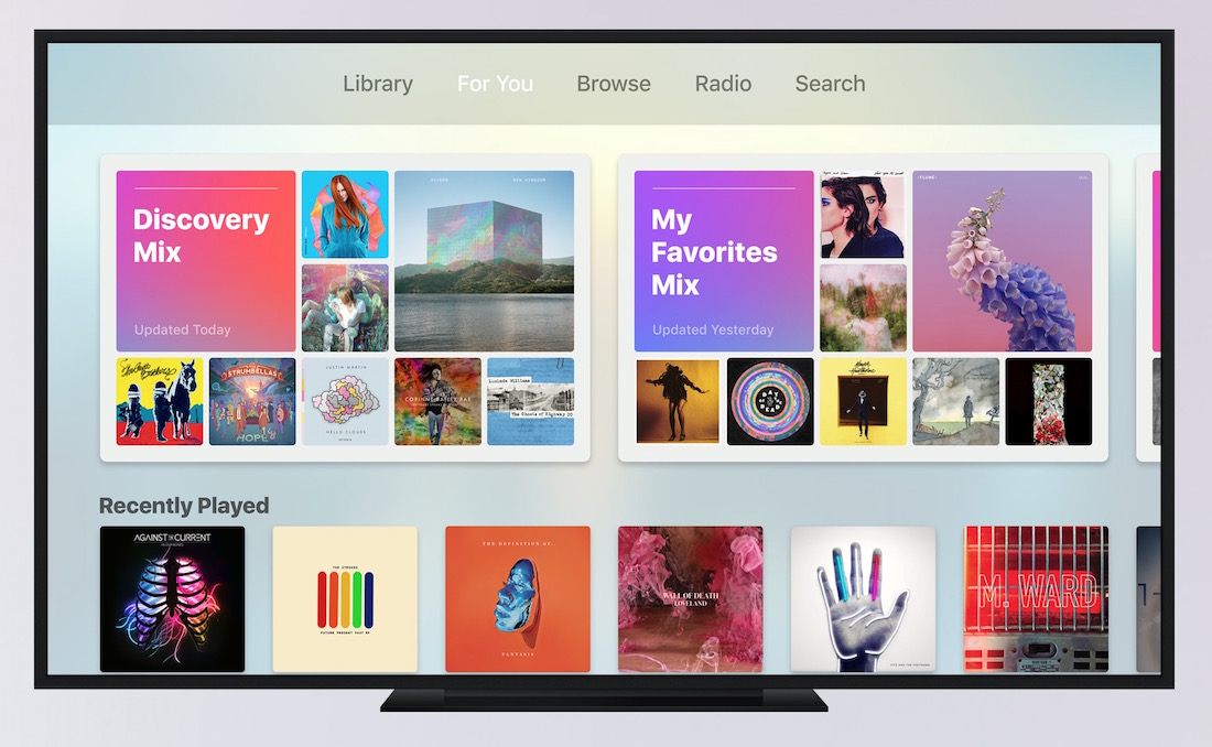 tvOS10 Apple Music