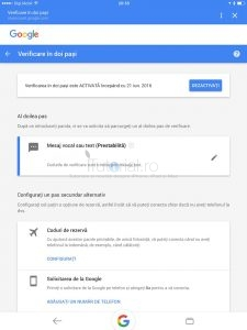 verificare doi pasi google